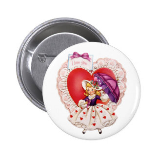 Vintage Valentine buttons