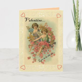 Vintage Valentine Card card