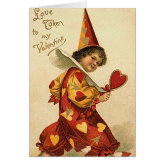 Vintage Valentine Card for Kids