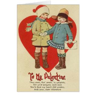 Vintage Valentine Card for Kids at Zazzle