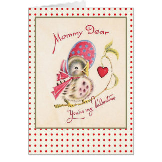 Vintage Valentine Card for Mom