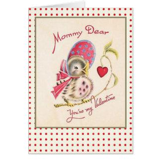 Vintage Valentine Card for Mom