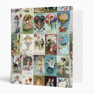 Vintage Valentine Cards Vinyl Binder