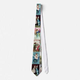 Vintage Valentine Cards Neck Tie