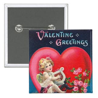 Vintage Valentine Cherub Greeting Pins