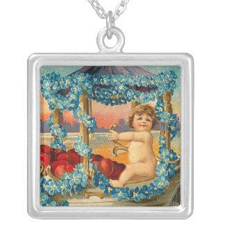 Vintage Valentine Cherub Necklace