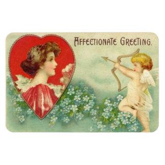 Vintage Valentine Cherub Rectangular Photo Magnet