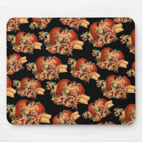 Vintage Valentine Cherubs Mouse Pad