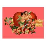 Vintage Valentine Cherubs Postcards