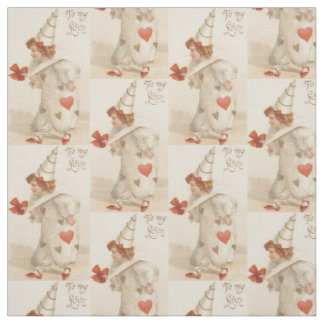 vintage valentine clown fabric