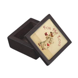 Vintage Valentine Clown Keepsake Box