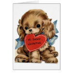 Vintage Valentine Cocker Spaniel Card