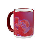 Vintage Valentine Couple in Red Coffee Mug