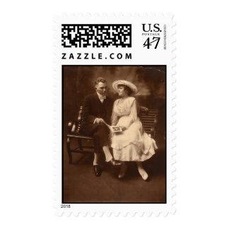 Vintage Valentine Couple Postage