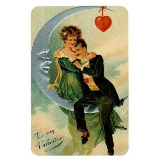 Vintage Valentine Couple Rectangular Photo Magnet
