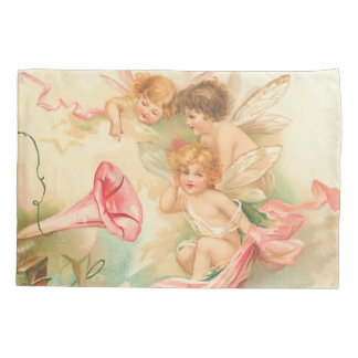 Vintage valentine cupid angel 1 pillow case