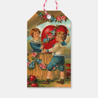 Vintage Valentine Delivery Boys Gift Tags Pack Of Gift Tags