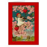 Vintage Valentine Fiddler Greeting Card