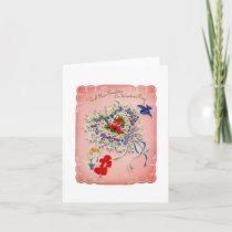 Vintage Valentine For Daughter Card