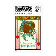 Vintage Valentine Forget-me-not flowers Postage Stamps