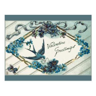 Vintage Valentine Forget-Me-Nots Post Cards