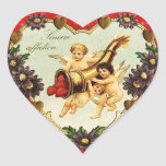 Vintage Valentine Heart Heart Sticker