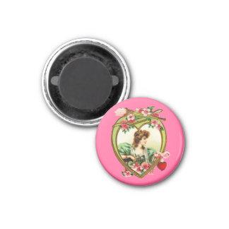 Vintage Valentine Heart Magnet