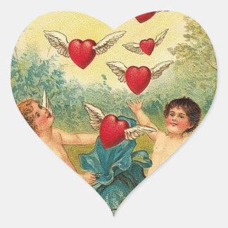 Vintage Valentine Heart Heart Stickers
