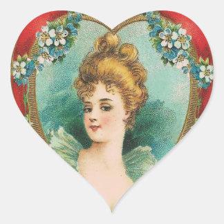 Vintage Valentine Heart Stickers