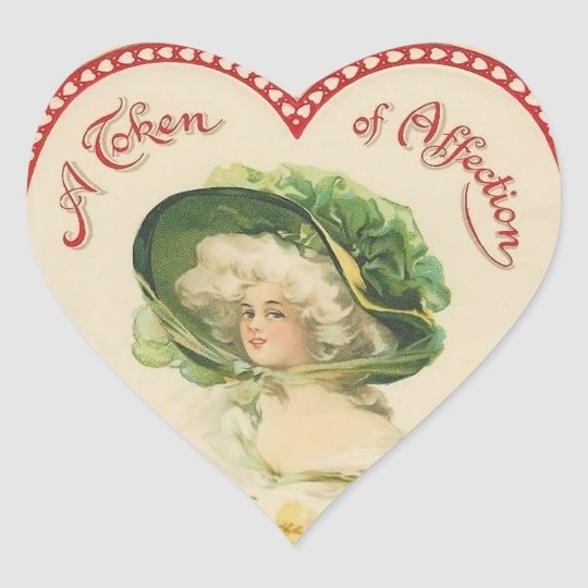 Vintage Valentine Heart Stickers