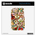 Vintage Valentine Hearts iPod Touch 4G Skins