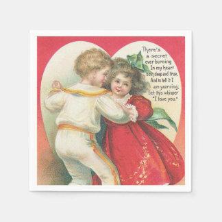 Vintage Valentine Holiday paper napkins