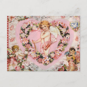 Vintage Valentine Holiday Postcard