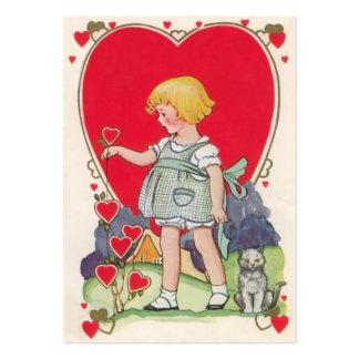 Vintage Valentine Kid Cards Business Card