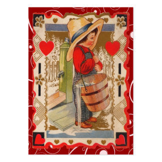 Vintage Valentine Kid Cards Business Card Templates