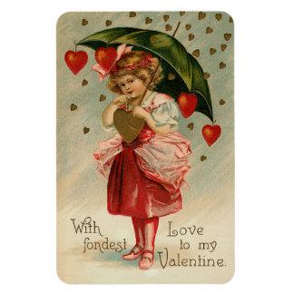 Vintage Valentine Kids Rectangular Photo Magnet