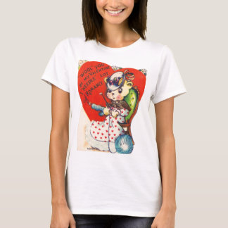 Vintage Valentine Knitting Bear T-Shirt