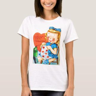 Vintage Valentine Knitting T-Shirt