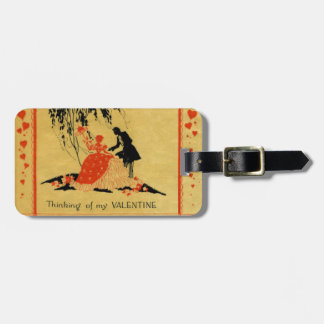 Vintage Valentine Luggage Tag