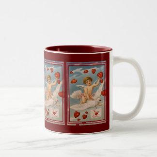 Vintage Valentine Two-Tone Coffee Mug