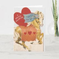 Vintage Valentine Palomino Holiday Card