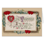 Vintage - Valentine - Poem, Hearts & Flowers Cards