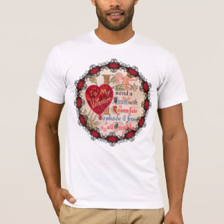 Vintage Valentine Poem Men's Shirt