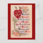Vintage Valentine Poem Postcard