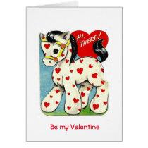 Vintage Valentine Pony Card