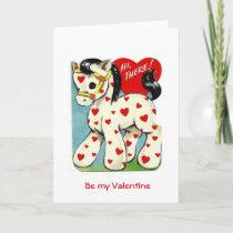 Vintage Valentine Pony Holiday Card
