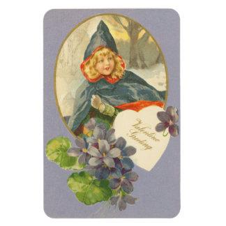 Vintage Valentine Rectangular Photo Magnet