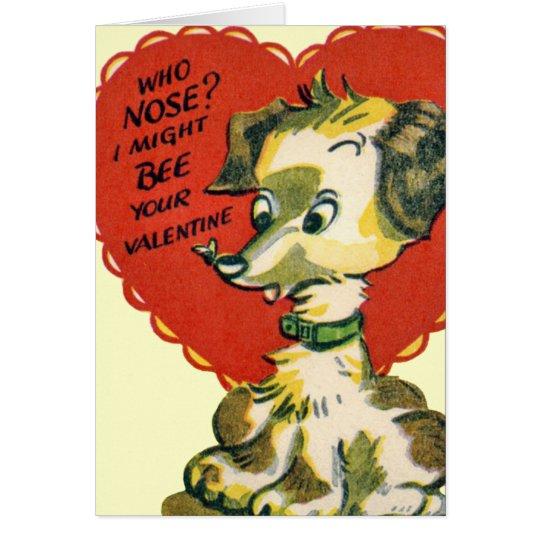 Vintage Valentine Puppy Card for Kids