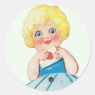 Vintage Valentine Round Sticker