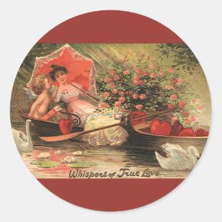 Vintage Valentine s Day Angel Cupid Flowers Love Stickers